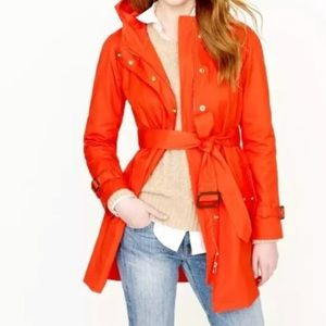 JCrew Matinee Trenchcoat, Bright Red